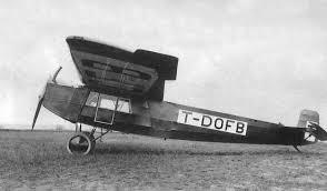 Fokker Gunhlich F111, af samme type som dét, Dörr ufrivilligt aflagde visit på Sydsjælland i.