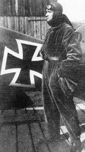 Ritter von Greim, fotograferet i efteråret 1917. Bemærk sporerne...