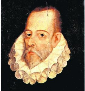 Miguel de Cervantes Saavedra (1527-1616), manden bag den bedrøvelige riddersmand Don Quixote.