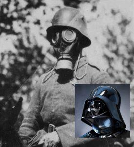 Tysk soldat anno 1917 & superslynglen Darth Vader (indsat)