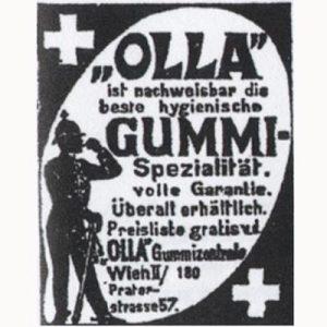"Reklame for det Wien-baserede kondomfirma ""Olla"""