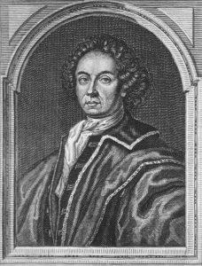 Samtidigt kobberstik, portræt af alkymisten og kætteren Johan Conrad Dippel - temmelig sikkert et forbillede for Victor Frankenstein.