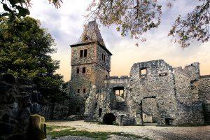 Schloss Frankenstein, den tyske 1200-tals borg.
